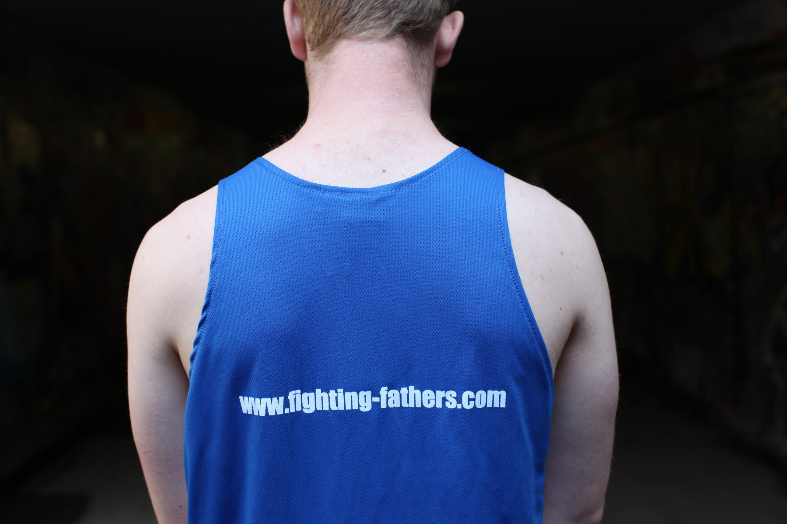 Fighting Fathers' boxing singlet - blue